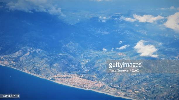 Aerial View Of Sea Against Blue Sky