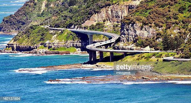 Aerial view of Sea Cliff Bridge Wollongong