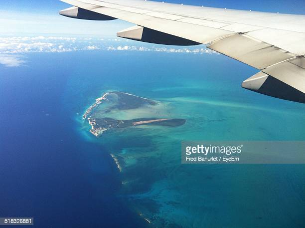 Aerial View Of Sea From An Airplane