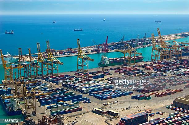 Luftbild von Meer Industrial Area