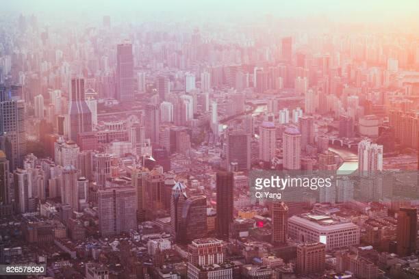 Aerial view of Shanghai , China