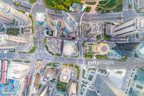 Aerial view of Shanghai Downtown