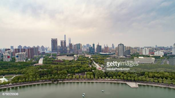 Aerial view of Shanghai from Century Park area