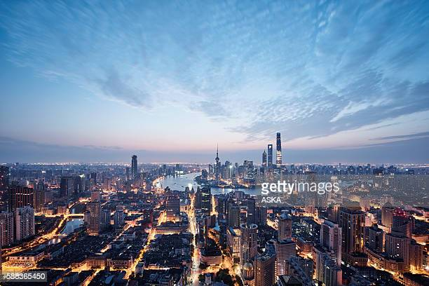 Vista aérea de Xangai