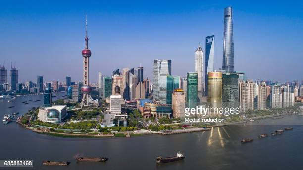 Aerial view of Shanghai Pudong area