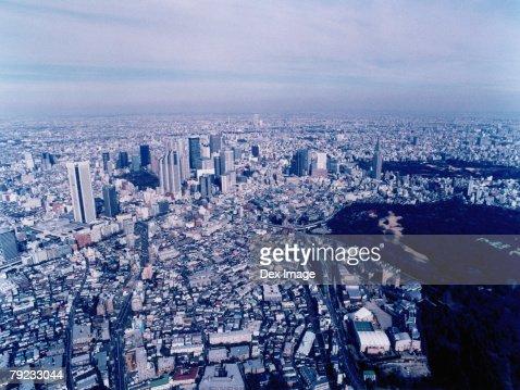 Aerial View of Shibuya-ku, Tokyo, Japan : Stock Photo