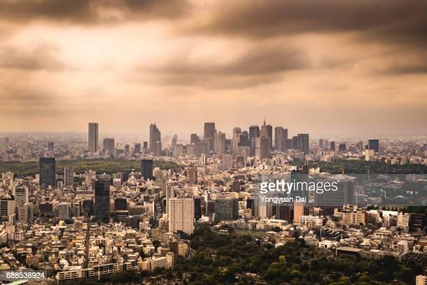 Aerial View of Shinjuku Skyscrapers