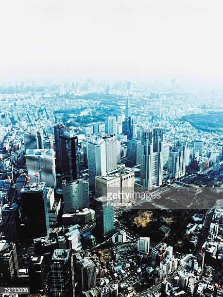 Aerial View of Shinjuku-ku, Tokyo, Japan
