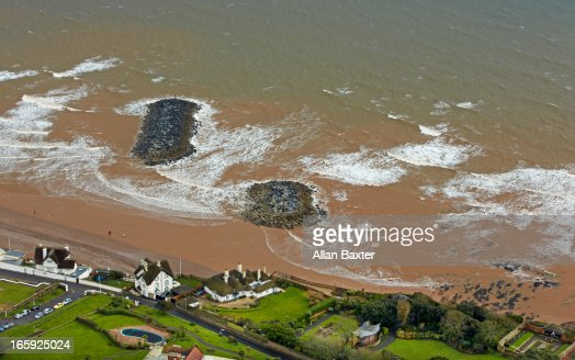 Aerial view of Sidmouth
