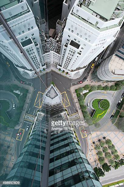 Aerial View of Singaore's Financial District