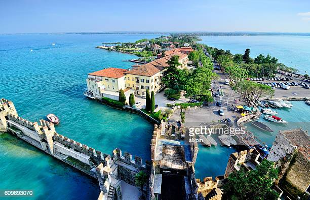 Aerial view of Sirmione