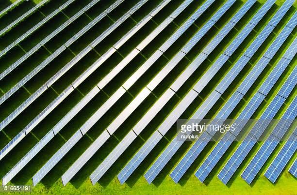 Luftbild von solar power station