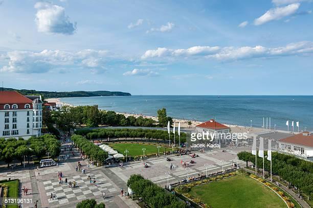 Aerial view of Sopot, tourist resort destination