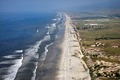 Aerial view  of Southern California coastline
