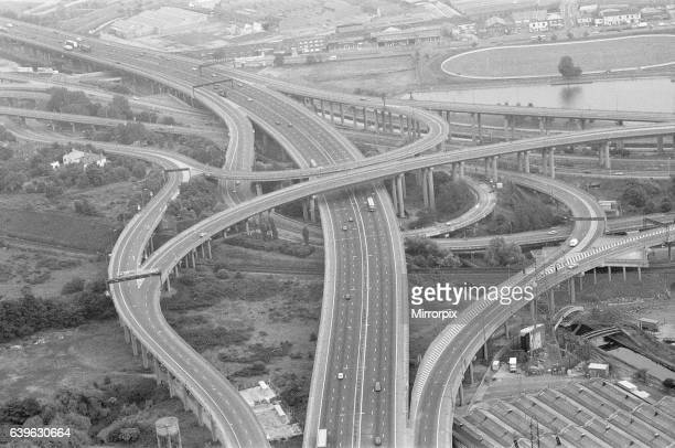 Aerial View of Spaghetti Junction Birmingham Tuesday 21st June 1988
