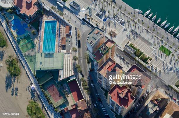 Aerial view of Spanish city