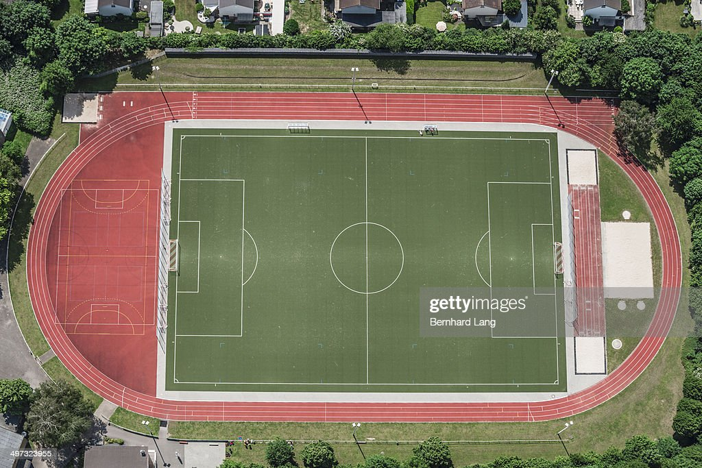 Aerial view of sports facilities