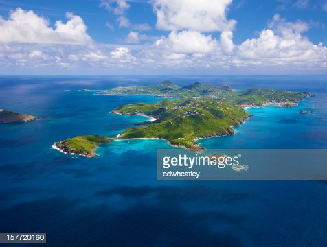 aerial view of St. Barths, French West Indies