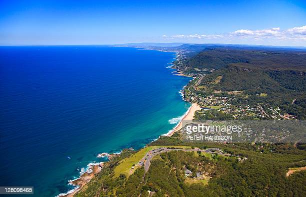 Aerial view of Stanwell Tops looking south to Wollongong, NSW, Australia.
