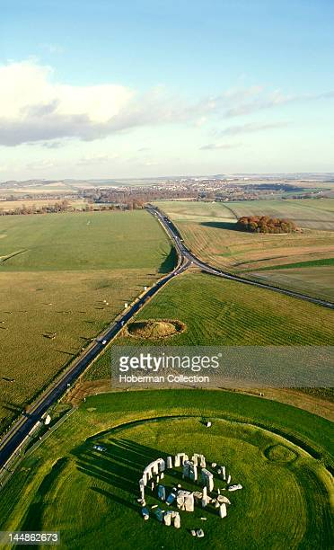 Aerial view of Stonehenge England United Kingdom