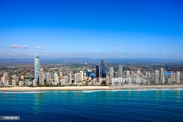 Aerial view of Surfers Paradise, Gold Coast, QLD, Australia