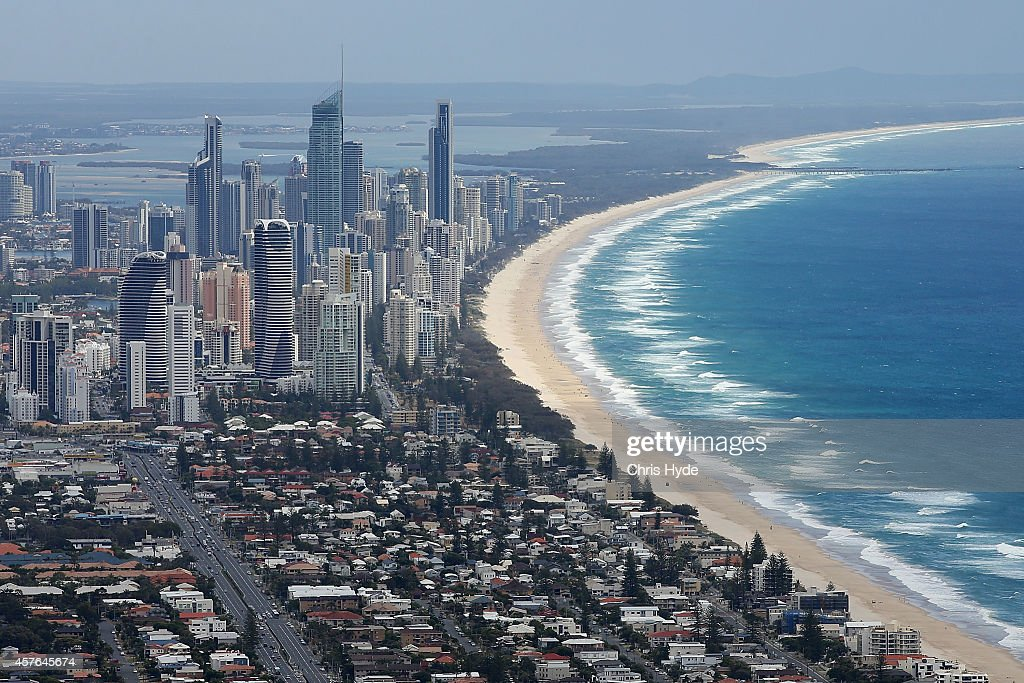 Aerial view of Surfers Paradise on October 22 2014 on the Gold Coast Australia