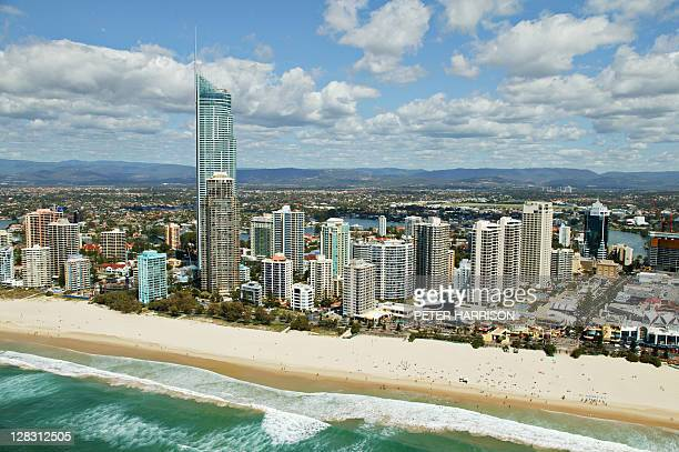 Aerial view of Surfers Paradise, Queensland, Australia,2005