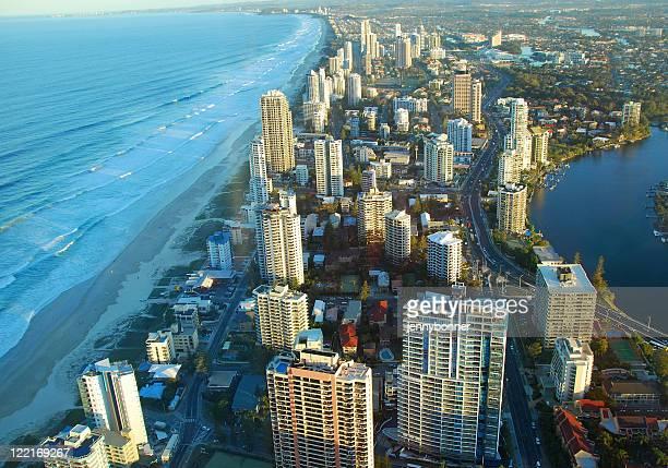 Aerial View of Surfers Paradise,Gold Coast,Queensland,Australia, Coastline