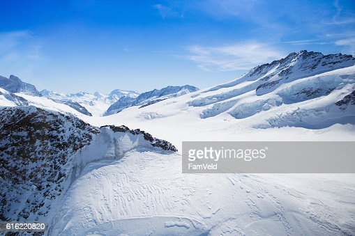 Aerial view of Swiss Alps : Bildbanksbilder