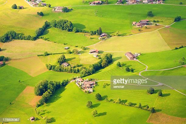 Luftaufnahme der Schweiz