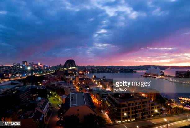 Aerial View of Sydney at Dawn