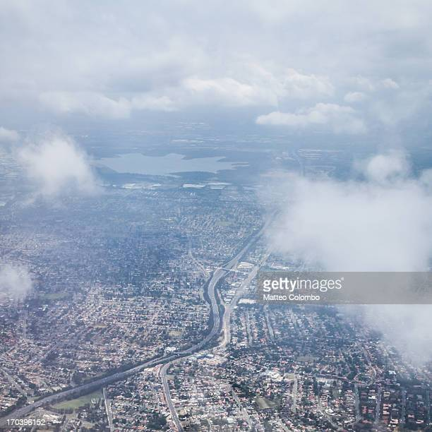Aerial view of Sydney western suburb of Parramatta