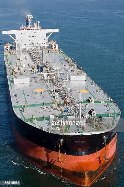 Vue aérienne du pétrolier
