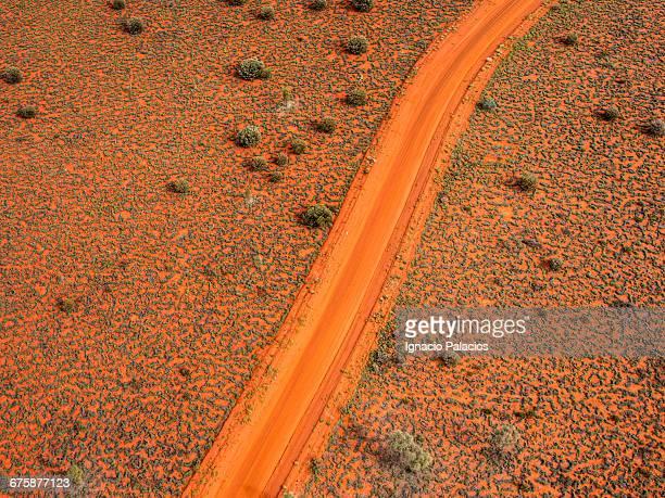 Aerial view of terrain at Uluru, Ayers Rock