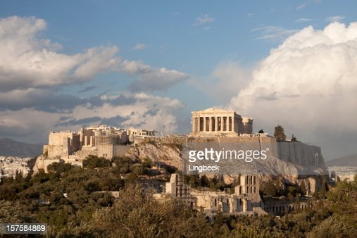 Aerial view of the Acropolis in Athens