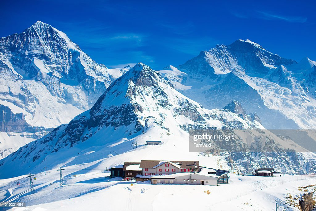 Aerial view of the Alps mountains in Switzerland : Foto stock
