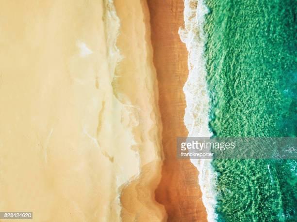 Luchtfoto van het Australische bondi strand
