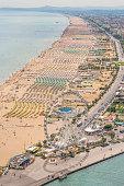 Aerial View of the beach of Rimini