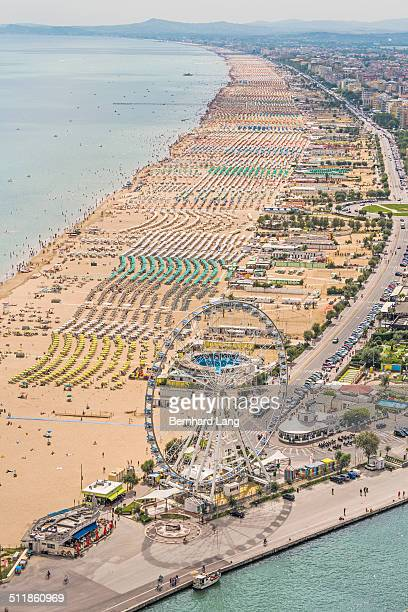 Aerial View of the beach of Rimini