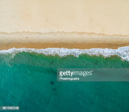 Aerial view of the beach : Stock Photo