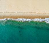 Aerial view of the beach, drone photography