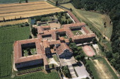 Aerial view of the Benedictine Abbey of St Mary 11th12th century Praglia Veneto Italy
