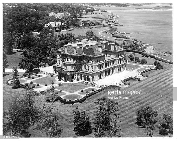 Aerial View of 'The Breakers' the stately residence built for Cornelius Venderbilt Newport Rhode Island 1955