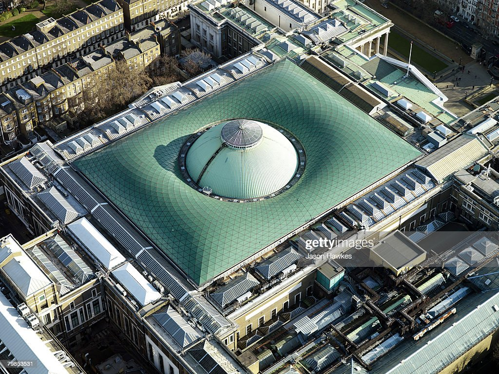 Aerial view of the British Museum on January 14, 2007 in London.