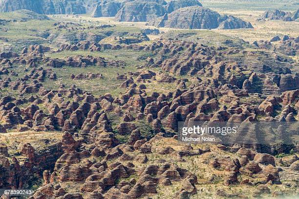 Aerial view of the Bungle Bungle, Purnululu National Park, UNESCO World Heritage Site, Kimberley, Western Australia, Australia, Pacific