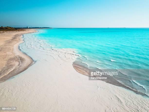 カリブの海の空撮