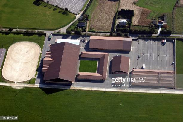 Aerial view of the Casas Novas horsy facilities in Arteixo of Amancio Ortega proprietary of ZARA