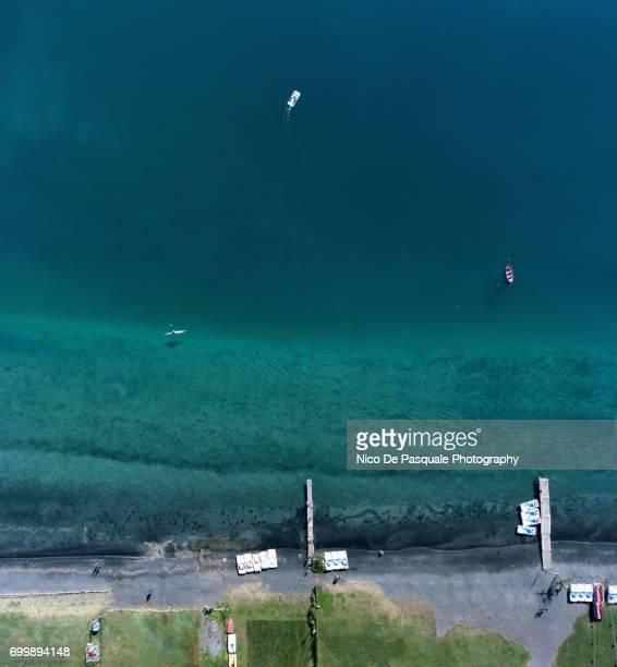 Aerial view of the Castle Gandolfo lake