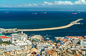 Aerial view of the city centre of Algiers, the capital of Algeria