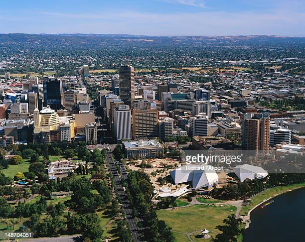 Aerial view of the city of Adelaide - South Australia